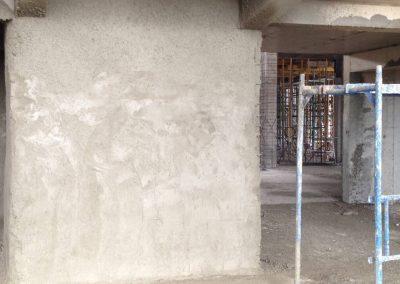 укрепване на колони на сграда с пръскане на торкрет бетон