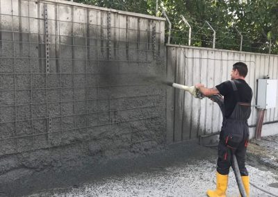 Пръскан бетон (торкрет бетон)