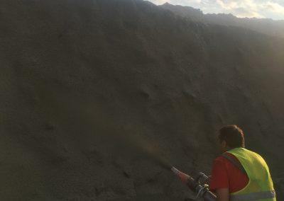 торкретиране (пръскан бетон) - язовир Луда Яна, Панагюрище