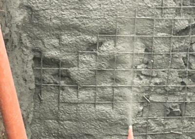 Укрепване на изкоп с пръскан бетон / Национална Художествена Академия, гр. София