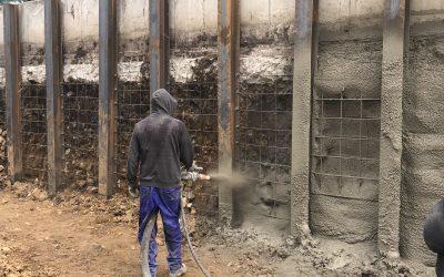 Укрепване на изкоп с торкрет бетон (мокро торкретиране)
