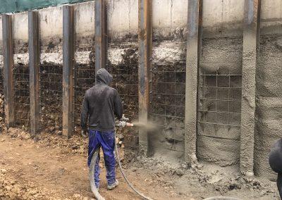 Укрепване на изкоп с торкрет бетон - ж.к. Кръстова вада, гр. София