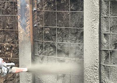 Укрепване на изкоп с пръскан бетон