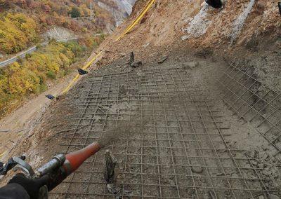 Укрепване на скат / свлачище с торкрет бетон - АМ ЛЮЛИН