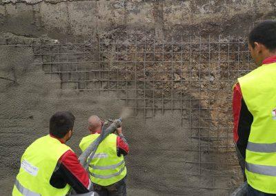 Укпреване на изкоп с торкрет бетон