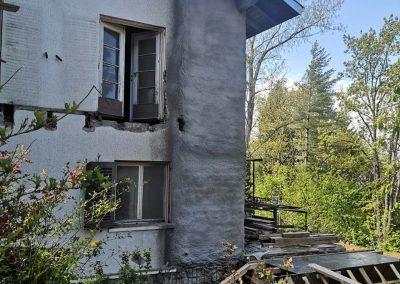 Укрепване на къща с торкрет