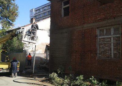 укрепване на къща с торкрет бетон гр. София
