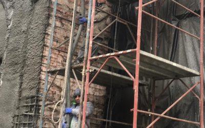 Укрепване на фасадата на Филхармония гр. Бургас