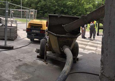 транспортиране на бетон