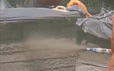 Торкретиране на фонтан / полагане на торкрет бетон