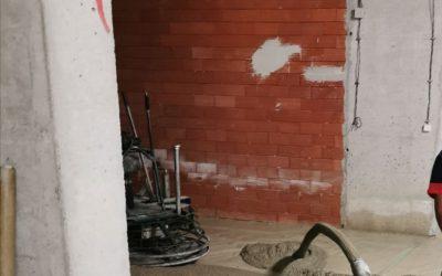 Изпомпване на бетон в подземен гараж, гр София