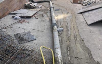 Транспортиране на бетон до подземен паркиг
