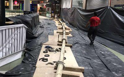 Транспортиране на бетон със стационарна бетон помпа